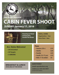 The flyer for the 2016 Cabin Fever Shoot