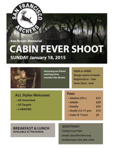 Ken Brown Memorial Cabin Fever Shoot Flyer