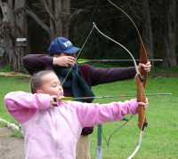 Father Daughter archery