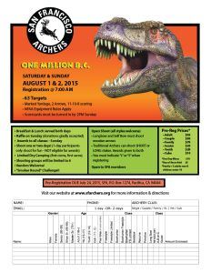 The PDF flyer for this year's One Million BC shoot is now available to download.